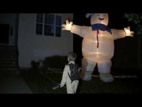 13 foot tall Stay Puft Marshmallow Man & Slimer Projection Ghostbusters