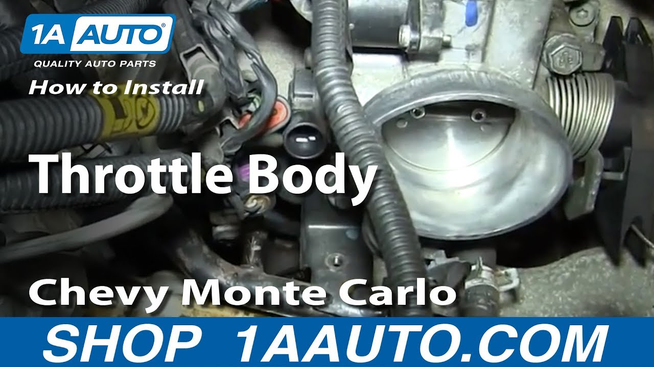 how to install remove throttle body 3 4l chevy monte carlo [ 1280 x 720 Pixel ]