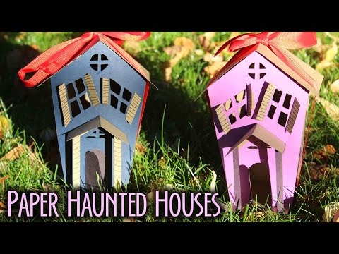 How To Make Paper Haunted Houses // BOOtorial 🎃