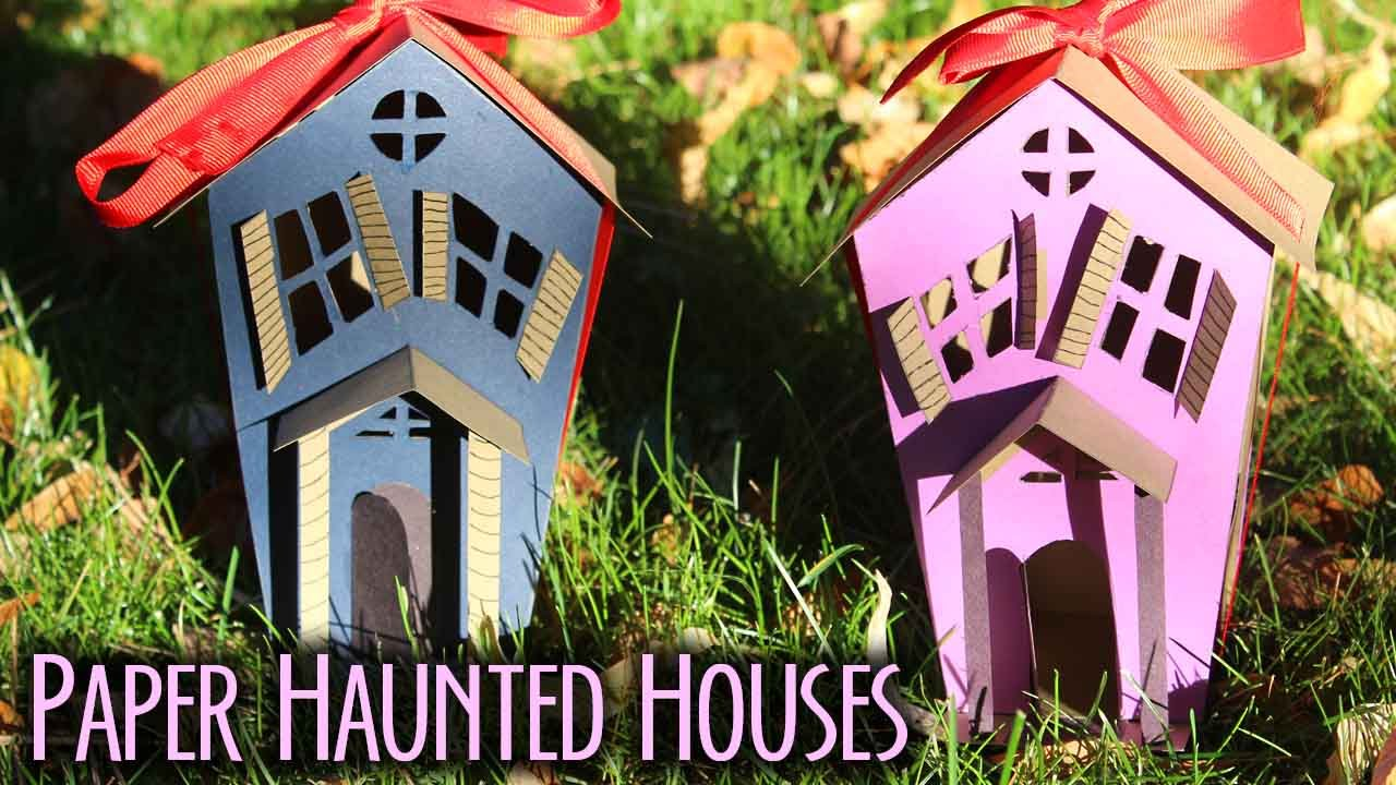 How to make paper haunted houses bootorial youtube for How to make a cardboard haunted house