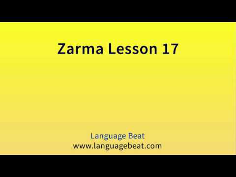 Learn Zarma   :  Lesson 17  -  Zarma  Phrases for Beginners