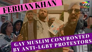 Gay Muslim confronted by Anti-LGBT Protestors