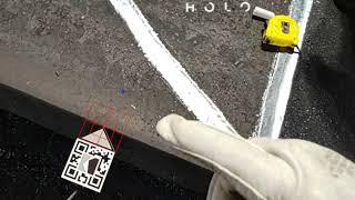 Hololens Medindo Placas de Aço