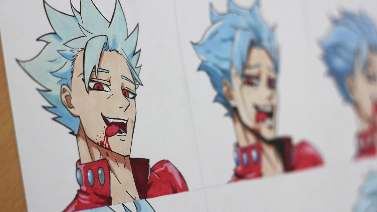 Drawing Ban In Different Anime Styles Youtube