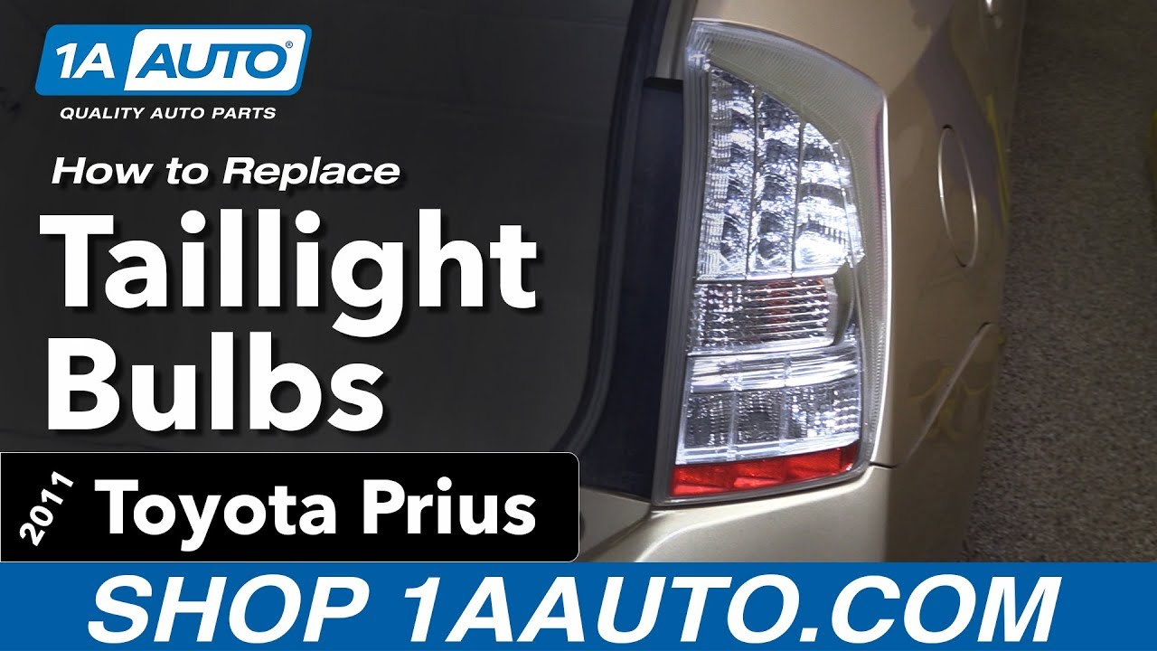 How To Replace Taillight Bulbs 10 15 Toyota Prius