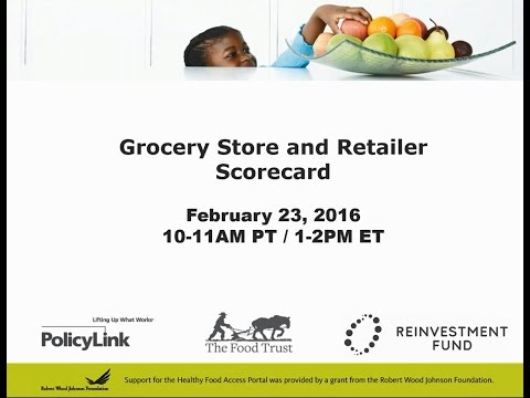 Grocery Store and Retailer Scorecard