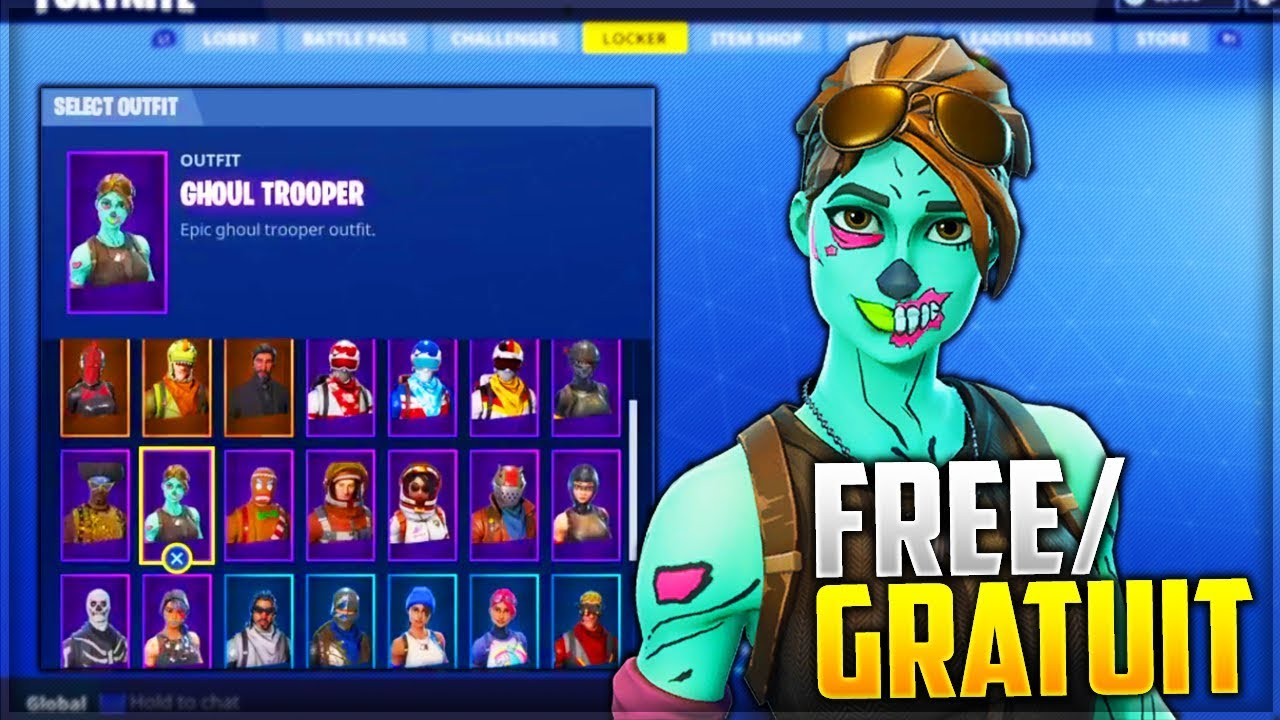 Je Vends Donne Un Compte Fortnite 35 Skins Ghoul Trooper
