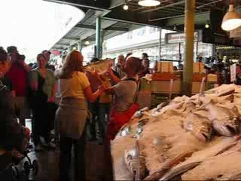 Flying fish in pike place market seattle youtube for Flying fish seattle