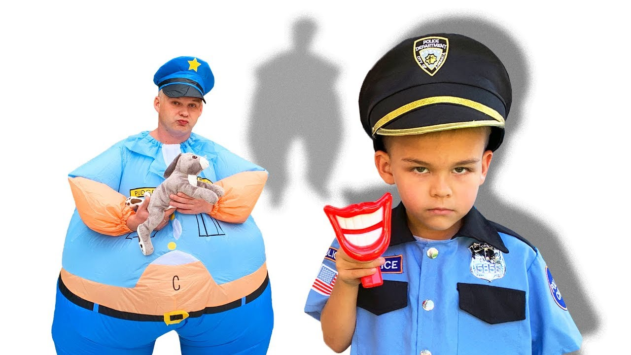 Dima pretend play Police - funny compilation