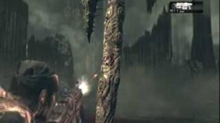 Gears of War 2 Gameplay Campaign - Locust Fish Boss Battle - Act 3 Chapter 6