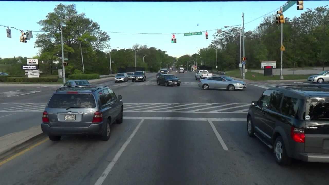 Driving North Baltimore City, Maryland