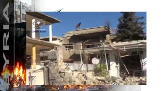 news   20140204   Al Zabadani in ruins after days of shelling by Assad forces