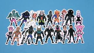 Fortnite Stickers Popular Skins (20 PCS), Video Game Party Supplies, Waterproof Stickers
