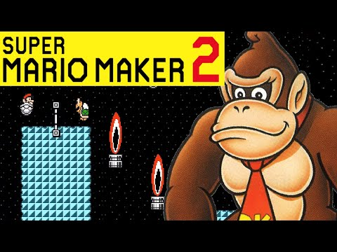 Super Mario Maker 2: Donkey Kong Country: Oil Drum Alley Showcase