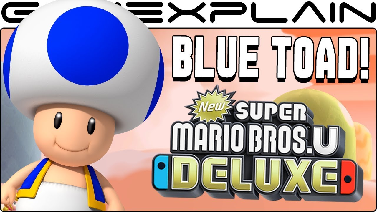 Blue Toad Lives Secret Unlock Trick In New Super Mario Bros U Deluxe Multiplayer Unaffected Youtube