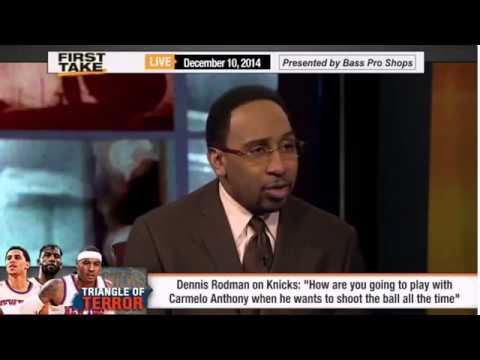 Dennis Rodman Rips the Knicks & Melo!     ESPN First Take
