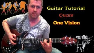 Video One Vision - Queen - Guitar Tutorial download MP3, 3GP, MP4, WEBM, AVI, FLV Juni 2018
