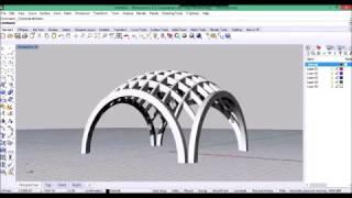 Rhino for Architecture: Funicular dome