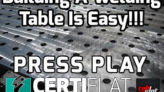 Building A Tab And Slot Certiflat Welding Table
