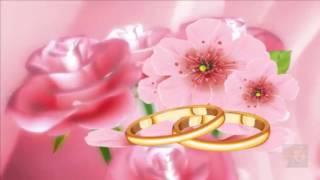 С днём свадьбы! - красивое  поздравление молодоженам.