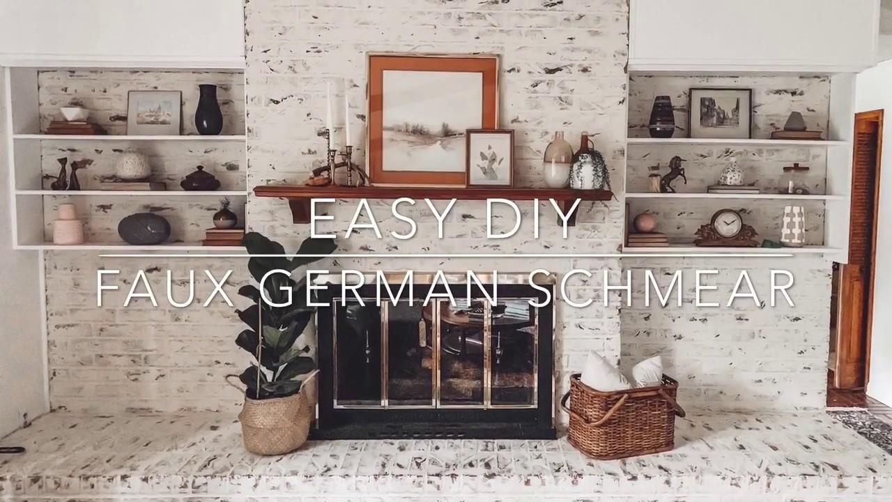 faux german schmear easy diy tutorial youtube. Black Bedroom Furniture Sets. Home Design Ideas