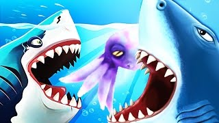 Hungry Shark World Baby Boss Pet vs Hungry Shark Evolution!