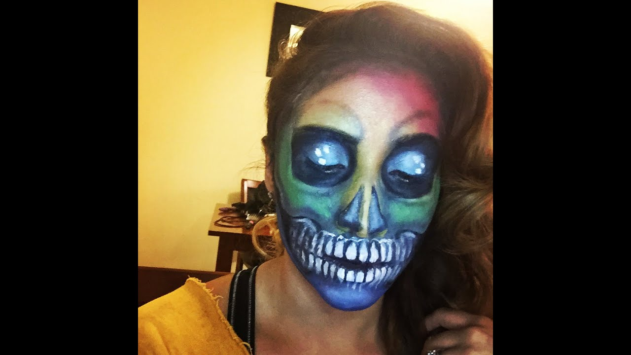 skull makeup tutorial youtube