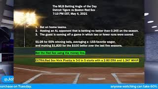 Free MLB Picks and Baseball Betting Predictions for 5-4-2021