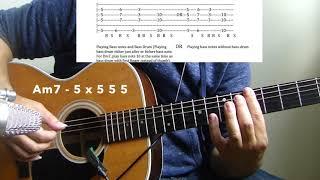 "HipHop/R&B Acoustic Guitar Lesson #8  ""Dear Mama"" -  2PAC"