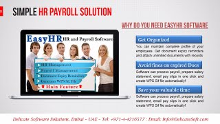 Easyhr is a complete hr management and payroll software which provides your company an easy solution to maintain employee profiles, preparation w...