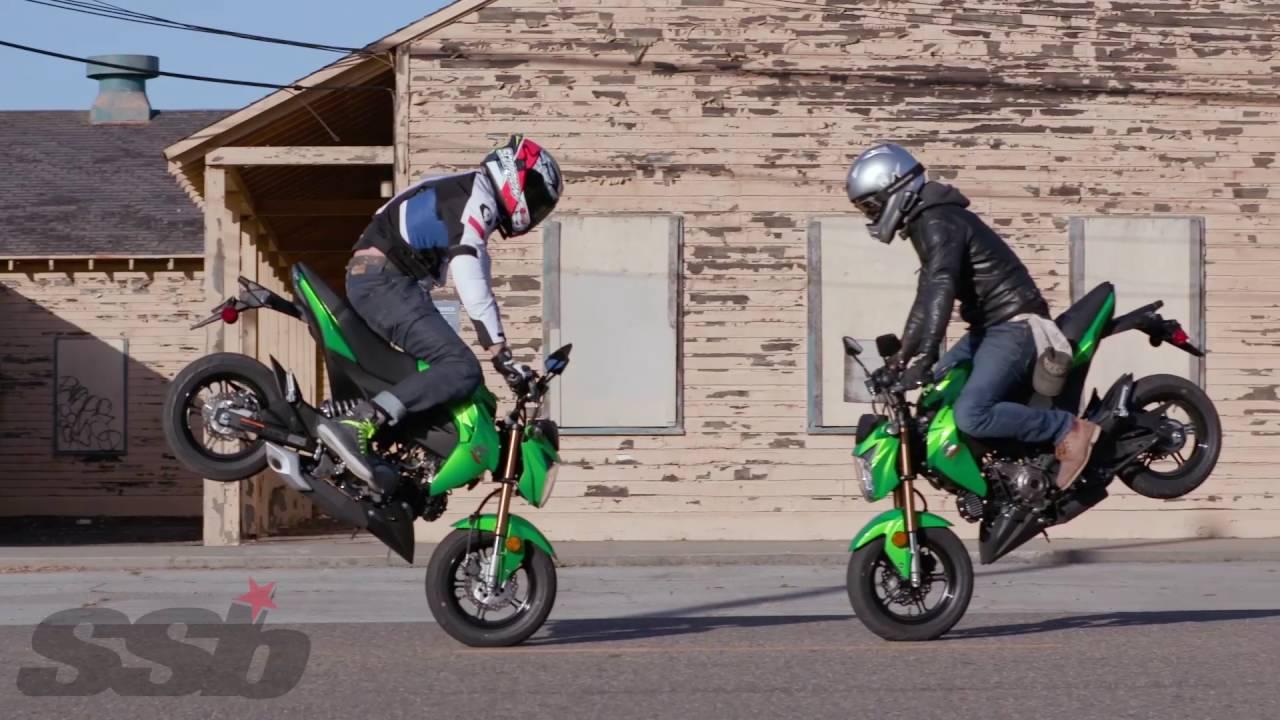 2017 kawasaki z125 pro first ride - youtube