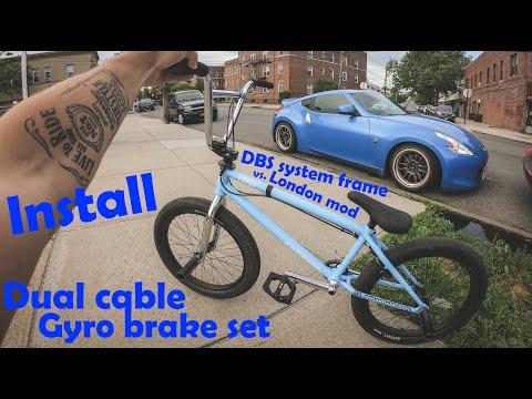 How to install dual cable Gyro brake system. DBS / London mod / Gyro Fék felszerelés- Bmx ep.1