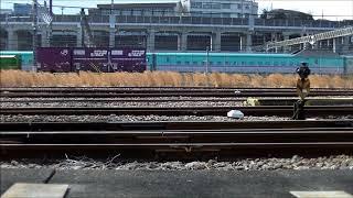 JR貨物:2090レ EH500牽引/2071レ EH200牽引 田端(信) 2017.02.24