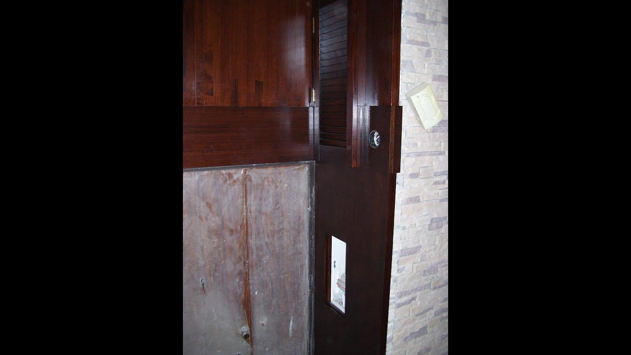 Монтаж деревянных откосов - входная дверь