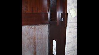 Монтаж деревянных откосов - входная дверь(Облицовка откосов дверного проема деревянными мебельными щитами. мой сайт http://woodestet.com/, 2016-02-24T14:51:37.000Z)