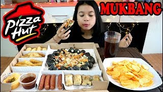 MUKBANG BIG BOX PIZZA HUT (PRAWN OKOYAKI - BLACK PIZZA) / MUKBANG INDONESIA