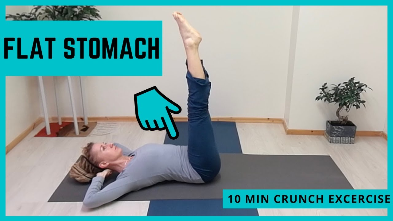 Best Exercise for Flat Stomach - Pilates Crunch Sit Up