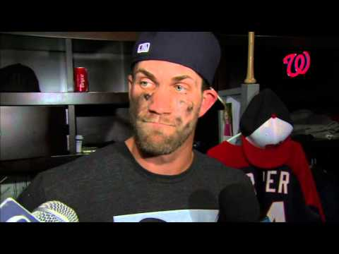 Bryce Harper Talks After His Encounter With Jonathan Papelbon