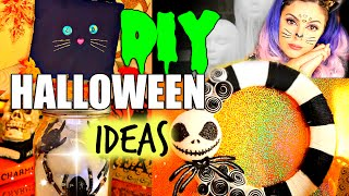 Pinterest Inspired Halloween Diy Decoration Ideas! Nightmare Before Christmas Decor And More!