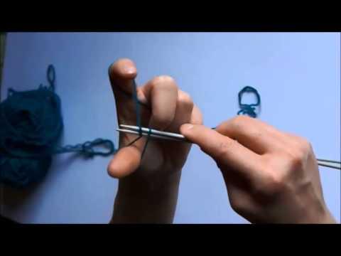 Škola pletení   počáteční nahazování ok - YouTube fdccc715ec