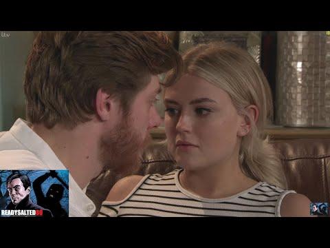Coronation Street - Daniel & Bethany Kiss Passionately On The Sofa