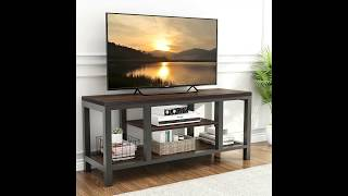 LITTLE TREE TV Stand, Industrial Rustic Media Stand for 60 TV