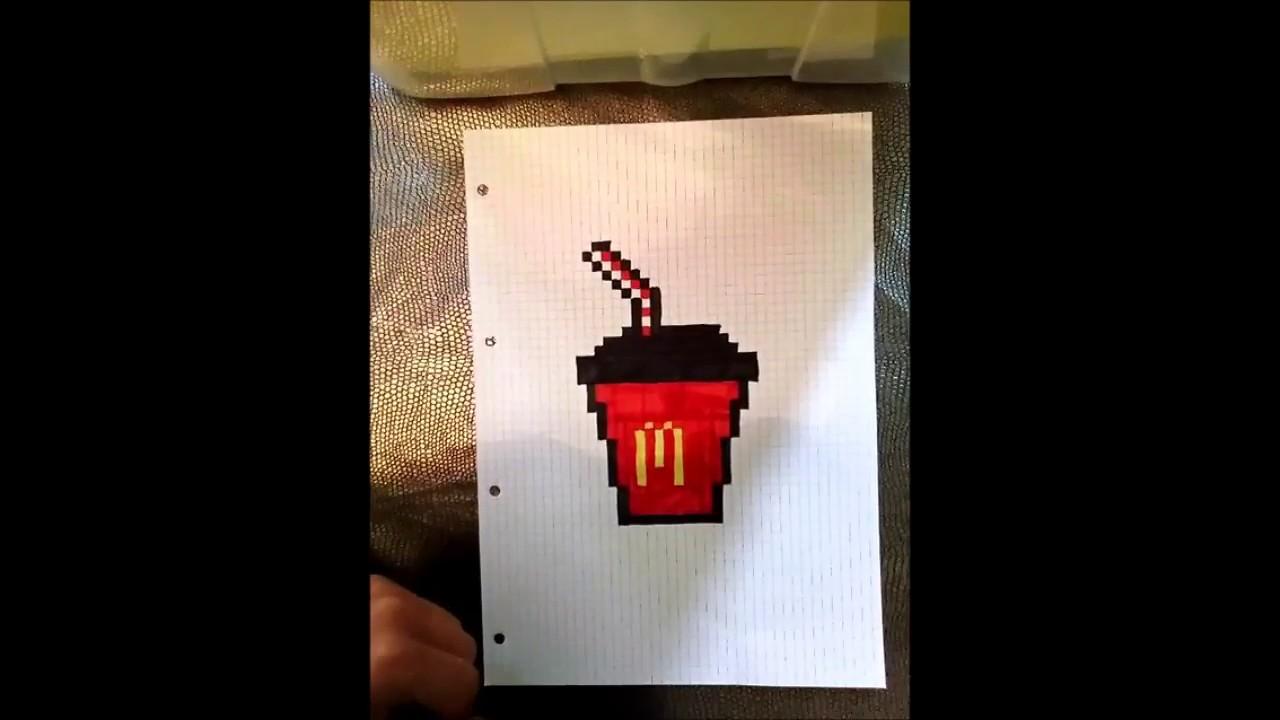 Pixel Art Apprendre A Dessiner Une Boisson Mcdonalds