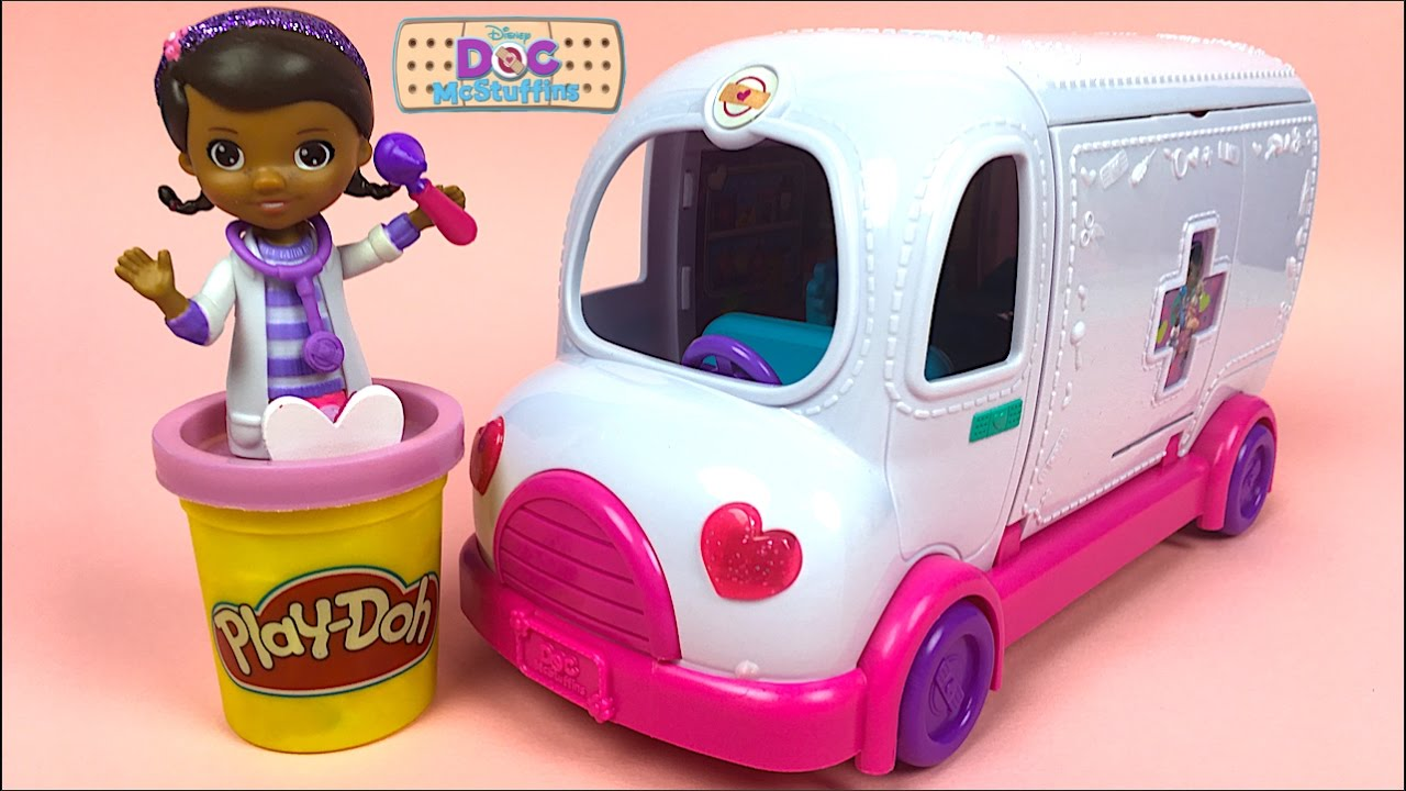 Disney Junior Doc Mcstuffins S Mobile Clinic Take Care Of Pets On The Go Unboxing You