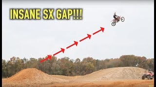 BIGGEST SUPERCROSS GAP EVER HIT ON A 125 2-Stroke | Jimmy Decotis