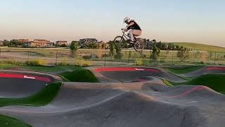 Jump Over the Pump Track! #shorts