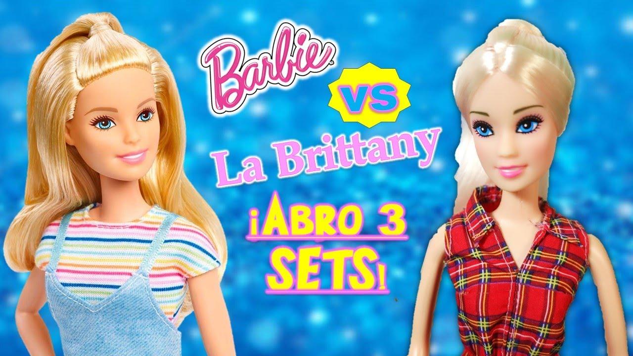 💜UNBOXING & COMPARACION de Barbie y Brittany!! ¿Si vale la pena? 🧏♀️