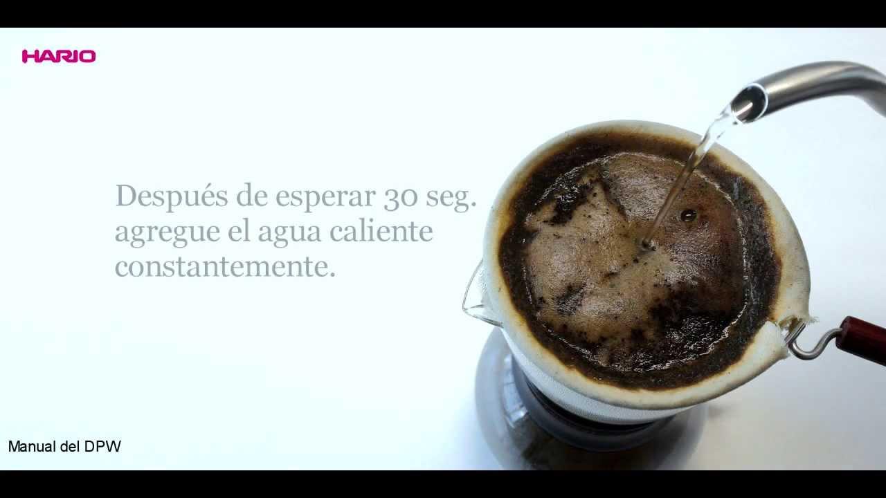 Hario woodneck coffee drip pot -  Hario Drip Pot Woodneck Instruction Movie Es