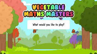 Vegetable Maths Masters app