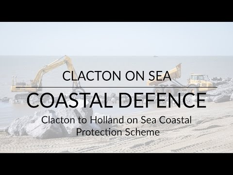 Clacton  - Sea defence project - Drone Filming